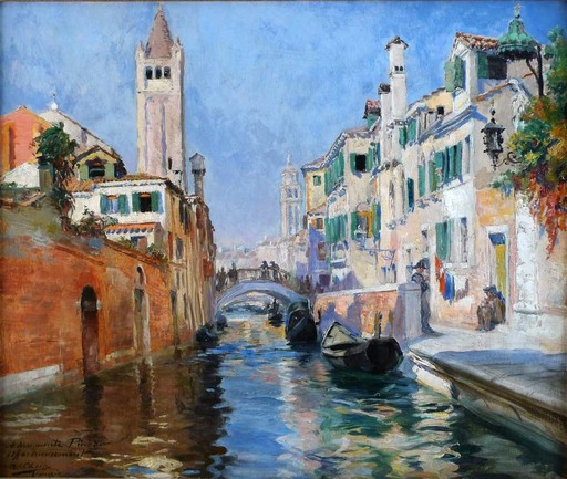 Ulpiano CHECA Y SANZ - Painting - Venice Canal