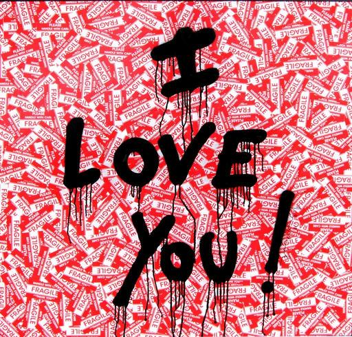 MR BRAINWASH - Pintura - I LOVE YOU