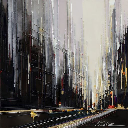 Leslie BERTHET LAVAL - Pintura - URBAN CITY