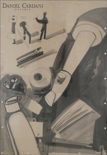 Miquel NAVARRO - Drawing-Watercolor - Composicion (6)