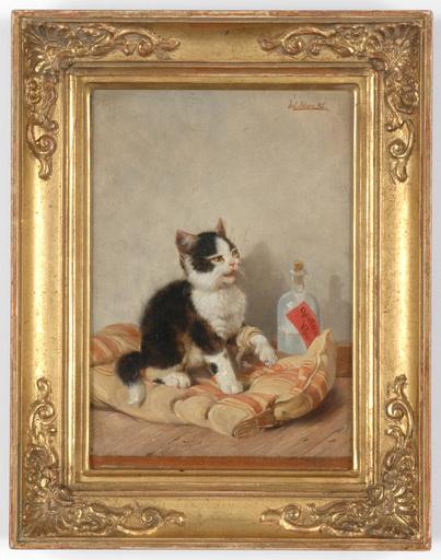 """Julius II ADAM - Painting - Julius Adam II (1852-1913) """"Der Patient"""" oil painting, 1885"""