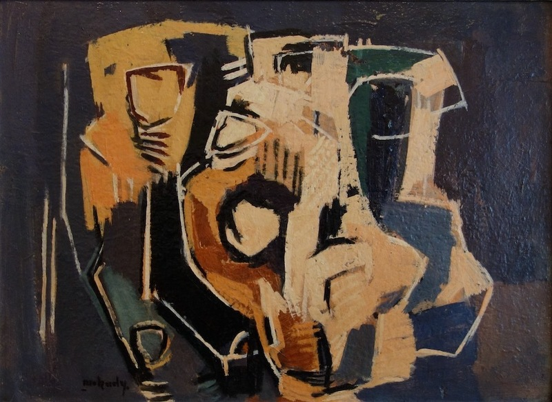Moshe MOKADY - Peinture - Untitled Abstract