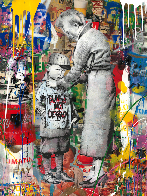 MR BRAINWASH - Painting - Punks Not Dead
