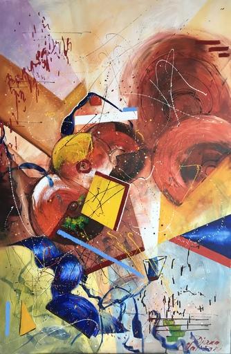 Diana MALIVANI - Pintura - The Yellow Square's Life