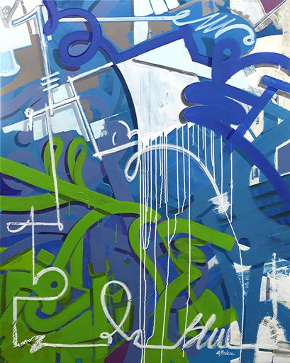 Ghazi BAKER - Gemälde - Blue in green