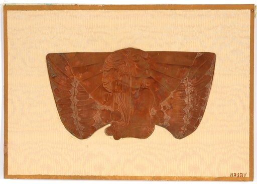"Sergius HRUBY - Sculpture-Volume - ""Art Nouveau Design"", ca.1900"