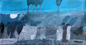 Zurab GIKASHVILI - Pittura - Blue landscape