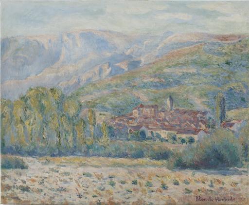 Blanche HOSCHÉDÉ-MONET - 绘画 - Village de Poujal-sur-Orb, Hérault
