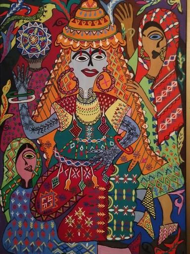 Fatima HASSAN EL FAROUJ - Pintura - La Mariée