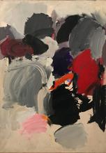 Dieter WALLERT - Painting - Cloud spaces no. II, 1961