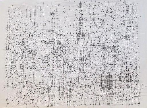 Karl KLUTH - Dibujo Acuarela - Abstrakte Linien und Strukturen.