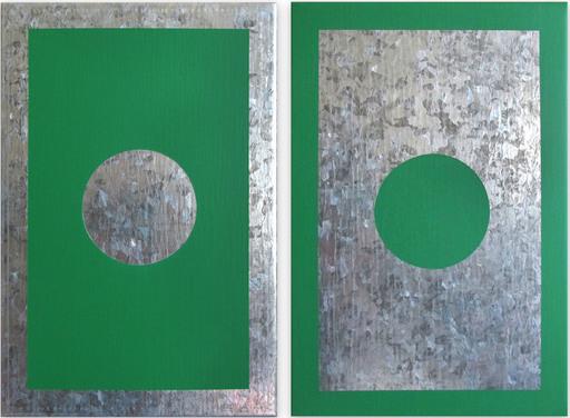 Daniel GÖTTIN - Gemälde - O6A-B, 2018 (Abstract painting)