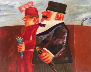 Franz BORGHESE - Peinture - La Coppia