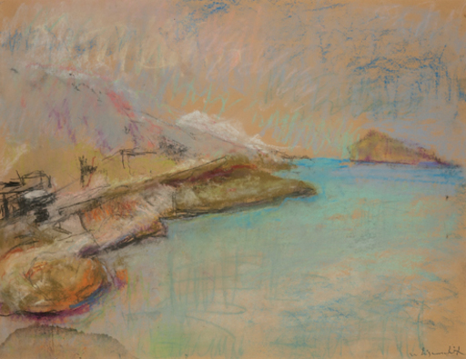 Willy EISENSCHITZ - Dibujo Acuarela - Ile Maire vor Marseille