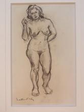 Emile Othon FRIESZ - Drawing-Watercolor - Nu Debout/Standing Nude