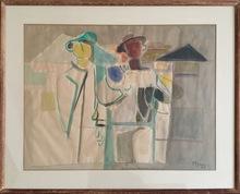 Édouard PIGNON - Pintura - Les Mineurs