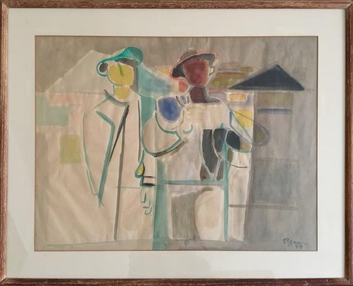 Édouard PIGNON - Painting - Les Mineurs