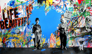 MR BRAINWASH - Painting - Juxtapose, 2017