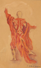 "Pavel TCHELITCHEW - Drawing-Watercolor - Costume Design for Balanchine Ballet ""The Cave of Sleep"""