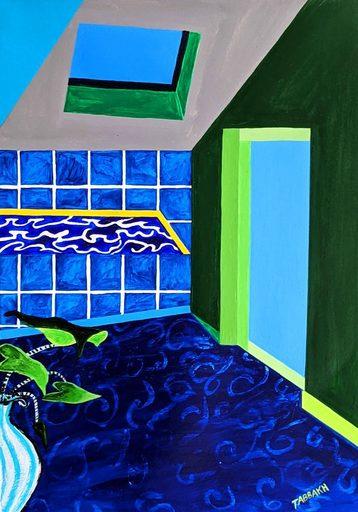 Cathy TABBAKH - Drawing-Watercolor - « Le Bain de mes Tourments »