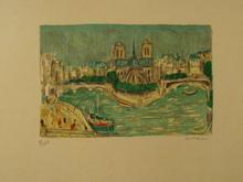 André COTTAVOZ - Print-Multiple - Paris,l'Ile de la Cité,1985.