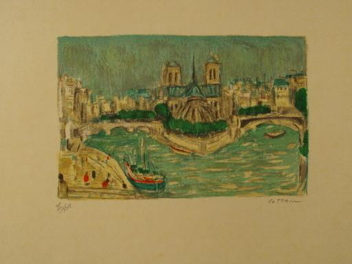 アンドレ・コタボ - 版画 - Paris,l'Ile de la Cité,1985.