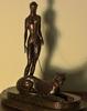 """ERTÉ (1892-1990) - """"La Femme A La Panthere""""    Bronze Sculpture"""