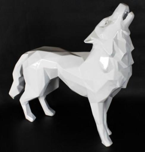 Richard ORLINSKI - Scultura Volume - Loup blanc hurlant