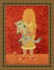 Roman ANTONOV - Peinture - Girl with a cat