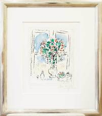 Marc CHAGALL - Print-Multiple - Stillleben mit Blumen