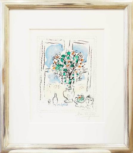 Marc CHAGALL - Estampe-Multiple - Stillleben mit Blumen