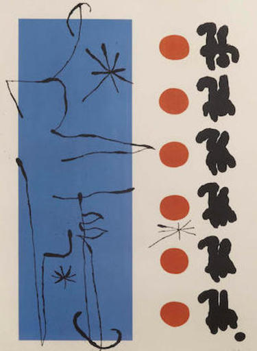 Joan MIRO - Estampe-Multiple - Rouge et Bleu