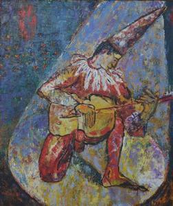 Josef PRESSER - Pintura - Circus perform