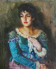 José HERRERA (1943) - Portrait d'une dame