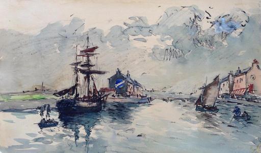 Fernand HERBO - Zeichnung Aquarell