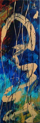 Marie Edmée SEGUIN - Painting - La nuit des temps N°43