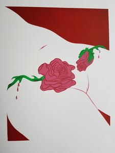 Félix LABISSE - Grabado - Pour son chemin de croix - Fleurs de trottoir