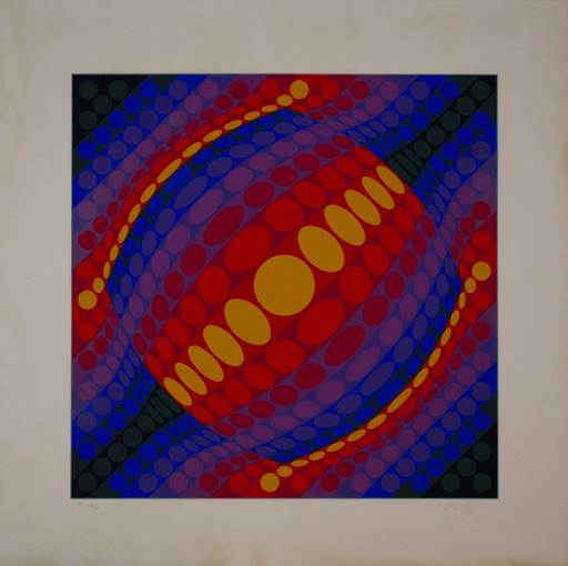 Victor VASARELY - Druckgrafik-Multiple - Planeta