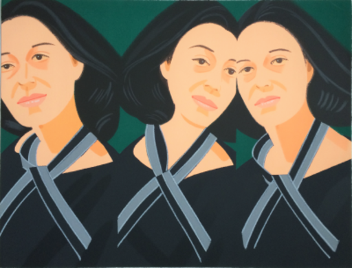 Alex KATZ - Print-Multiple - Grey Ribbon