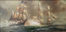 Renato LONGANESI - Pintura - Battaglia navale