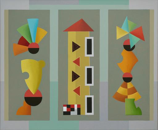 Enrique Rodriguez GUZPENA - Painting - Tarde de fiesta