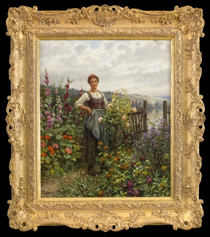 Daniel Ridgway KNIGHT - Peinture - Tending the Flowers