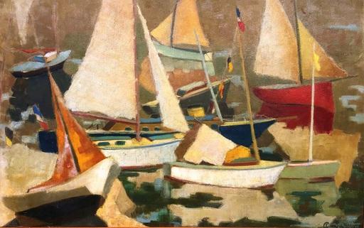 Charles DAUDELIN - Pintura - c.1946-48 Les voiles