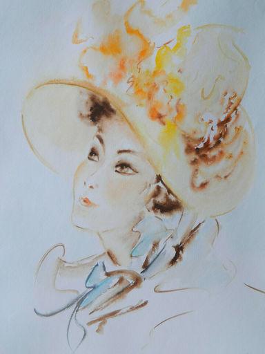 Marina GREKOFF - Drawing-Watercolor - FEMME - ЖЕНЩИНА