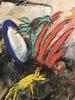 """Jean FETZ - Drawing-Watercolor - """"La bêtise humaine"""""""