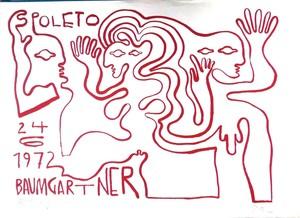 Fritz BAUMGARTNER (1929-2006) - Spoleto 24 Giugno 1972