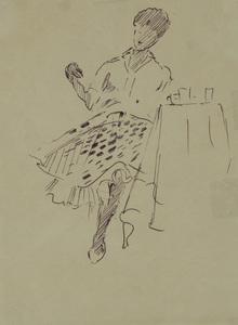 Yuri Ivanovich PIMENOV, Parisienne in a Cafe