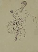 Yuri Ivanovich PIMENOV (1903-1977) - Parisienne in a Cafe