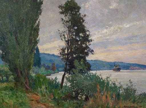 Ernest JOUANNE - Peinture - La Seine, le soir à Vieux Port