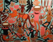 George LILANGA - Peinture - Nana Familia